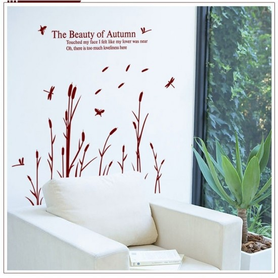 Beauty of Autumn Reed Wall Sticker