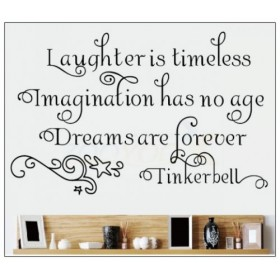 Laughter, Imagination and Dreams Wall Lettering