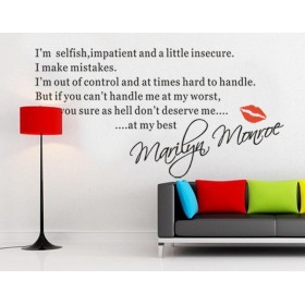 I'm Selfish Quote from Marilyn Monroe