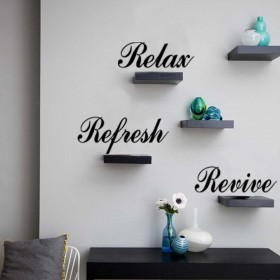 Relax, Refresh, Revive Vinyl Wall Lettering