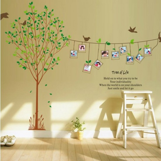 Tree Of Life Photo Frames U0026 Birds Wall Sticker Part 69