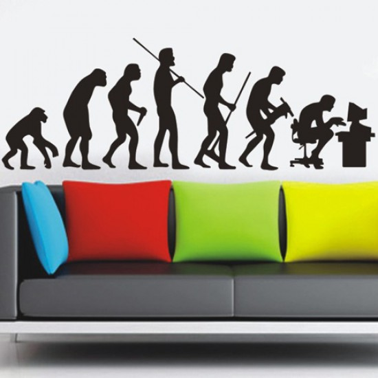 Human Evolution Figure Art Decal