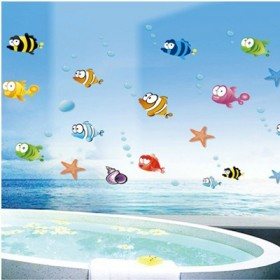 Big & Rounded-Eyed Fish Nursery Wall Decal
