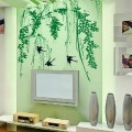 Swallow And Willow Tree Wall Decal