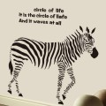 Walking Zebra Animal Sticker