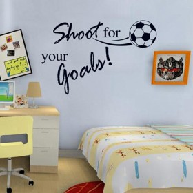 Shoot For Your Goals Football Sticker