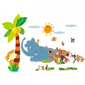 Animals Friends Jungle Playing in the Zoo Wall Decals