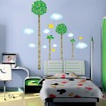 Trees, Clouds and Birds Wall Decals