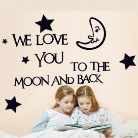 We Love You to The Moon And Back Love Wall Quotes