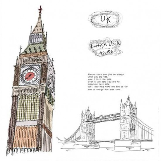Big Ben Clock from London Wall Decal