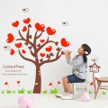 Sweet Heart Tree Vinyl Wall Art Decals
