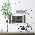 Green Tree and Black Bicycle Wall Sticker