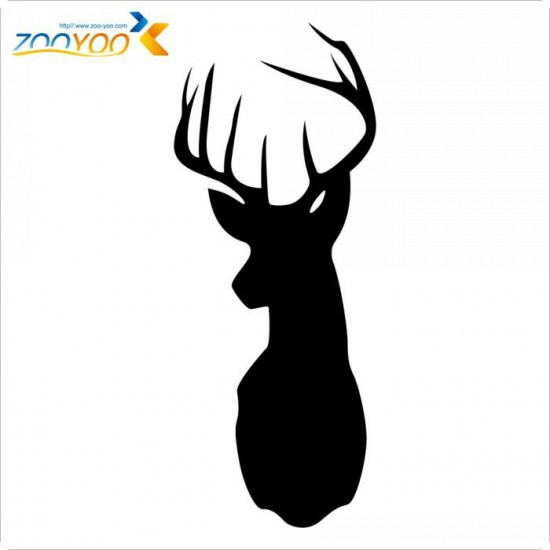 Black Reindeer Chalkboard Wall Stickers