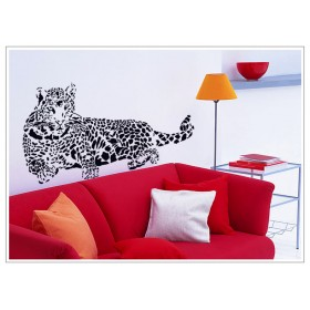 Wild Leopard Sticker