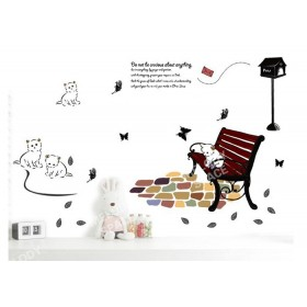 Do Not Be Anxious about Anything White Cats Quotes Wall Sticker
