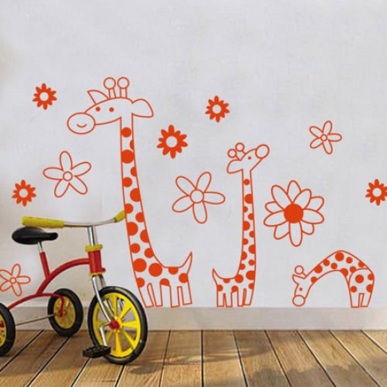 Cartoon Giraffe Wall Sticker