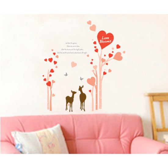 Wallking to the End Deers Love Wall Decal