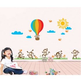 Playing Monkeys Wall Art Sticker