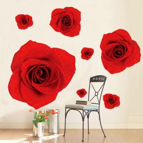 Red Roses for Love Wall Decal