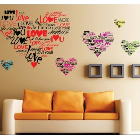 Love in Different Language Wall Art Decal