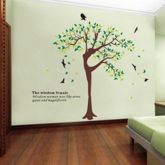 Wisdom Tree Wall Art Decal