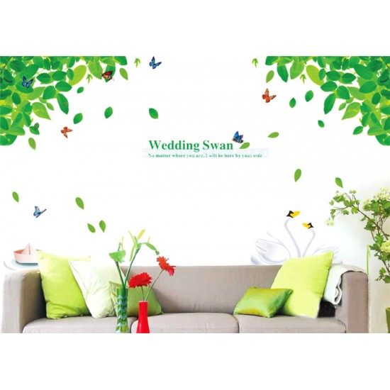 Wedding Swans Wall Decal