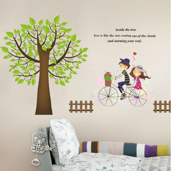 Riding A Bike Vinyl Wall Art Decals