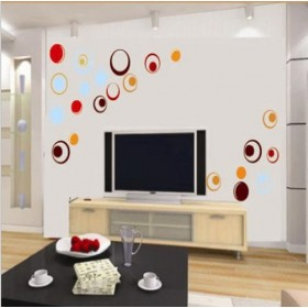 Polka Dots TV Wall Art