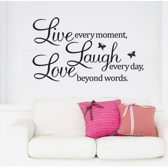 Live Laugh Love Vinyl Wall Quotes
