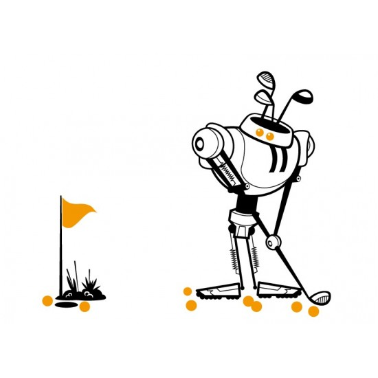 A Robot Playing Golf