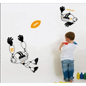 A Robot Playing Football Wall Sticker