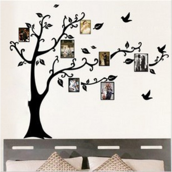 Black Photo Frames Tree Wall Decal