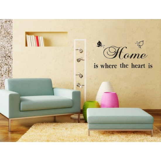 Home Quote Words Wall Decal