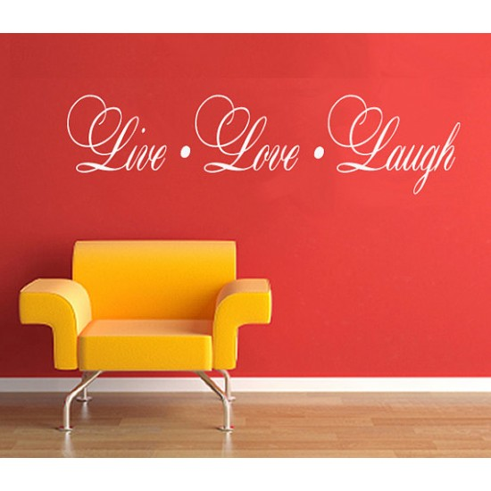 Live. Love. Laugh Wall Lettering