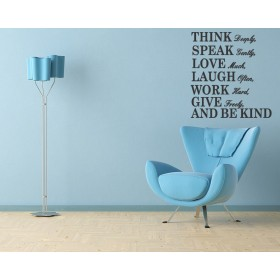 Think Deeply Wall Quotes Decal