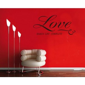 Love Makes Life Complete Wall Quotes Decal