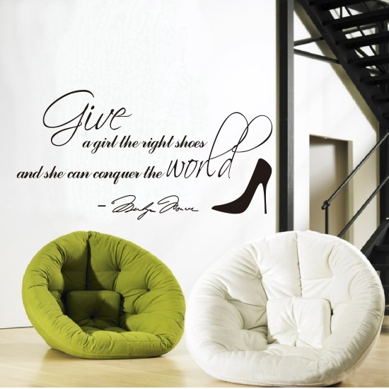 Right Shoes for A Girl Wall Quote