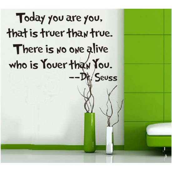 Wall Quotes Art from Dr. Seuss