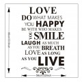 Love, Happy, Smile Wall Quotes