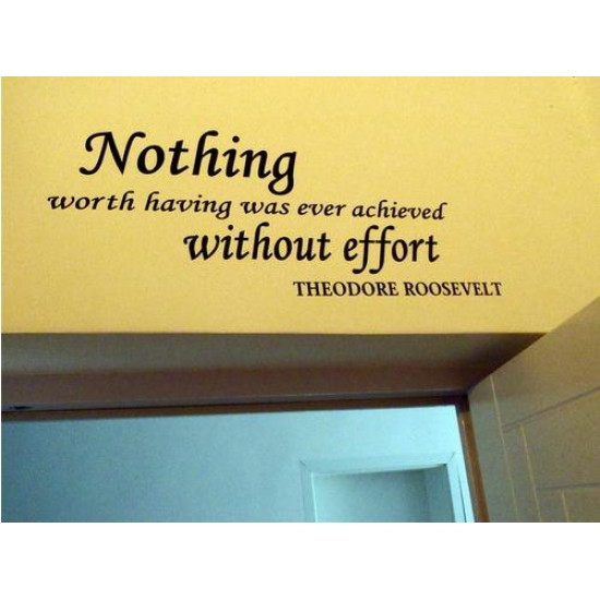 Without Effort Vinyl Wall Lettering