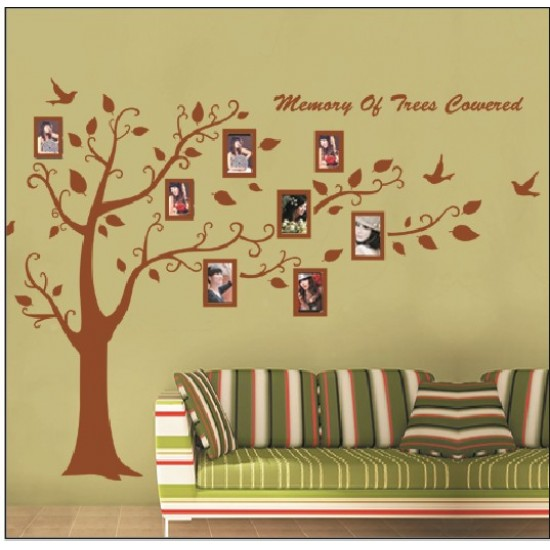 Coffee-Colored Tree with Photo Frames